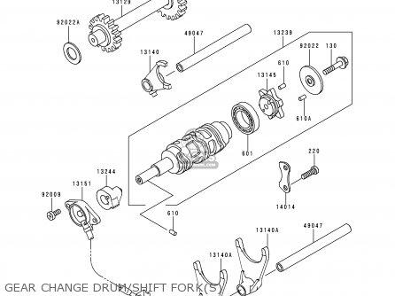 Kawasaki KLF220-A9 BAYOU220 1996 USA CANADA parts lists