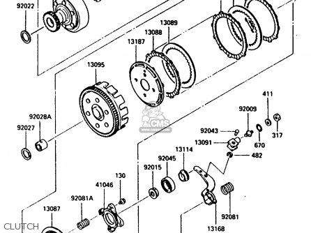 Kawasaki Klf300-a2 Bayou300 1987 parts list partsmanual