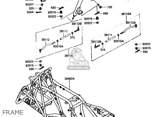 Kawasaki Klf300-a2 Bayou300 1987 parts list partsmanual