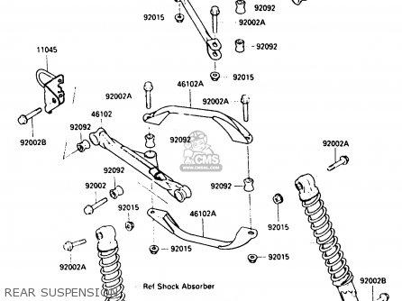 Kawasaki 300 Bayou Front Drive Diagram, Kawasaki, Free