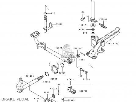 Kawasaki Klf300-b1 1988 United Kingdom As parts list