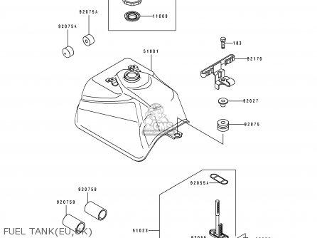 Kawasaki KLF300-B1 1988 UNITED KINGDOM AS parts lists and