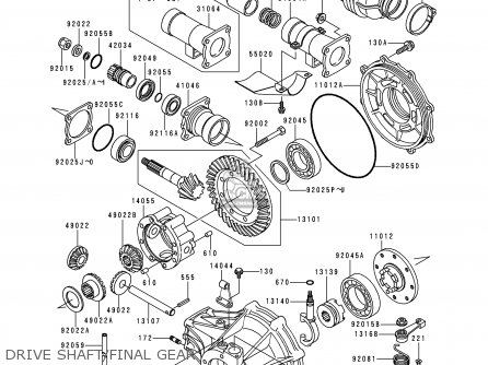 Kawasaki Klf300-b12 1999 Europe Uk As parts list