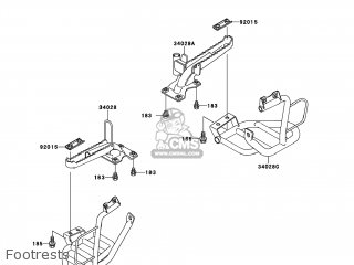 Kawasaki KLF300-B14 BAYOU300 2001 USA parts lists and