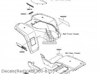 Kawasaki KLF300-B17 BAYOU300 2004 USA parts lists and