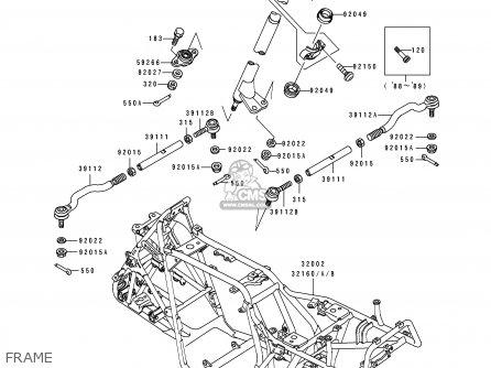 Kawasaki KLF300-B2 1989 UNITED KINGDOM AS parts lists and