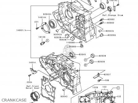 Kawasaki KLF300-B3 1990 UNITED KINGDOM AS parts lists and