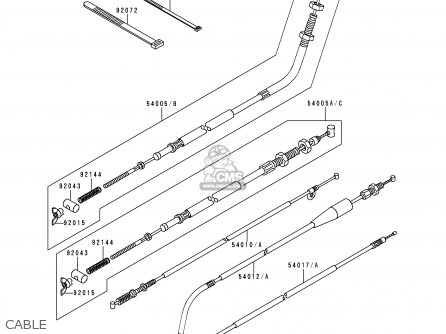 Kawasaki Klf300-b3 Bayou300 1990 Usa Canada parts list