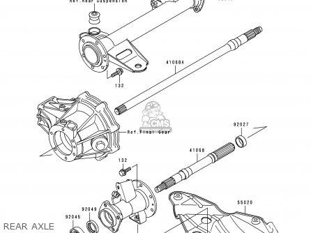 Kawasaki Klf300-b4 Bayou300 1991 Usa Canada parts list