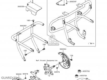 Kawasaki Klf300-b5 Bayou300 1992 Usa Canada parts list