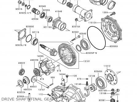 Kawasaki KLF300-B6 BAYOU300 1993 USA CANADA parts lists