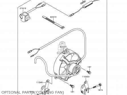Kawasaki Klf300-b6 Bayou300 1993 Usa Canada parts list