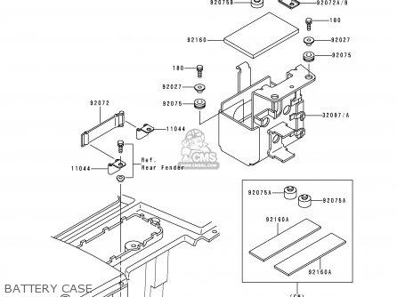 Kawasaki Klf300-b8 Bayou300 1995 Usa Canada parts list