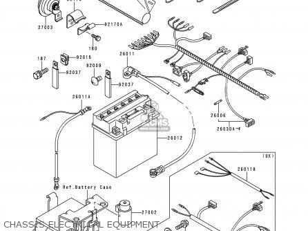 Kawasaki KLF300-C10 KLF3004X4 1998 EUROPE UK AS parts