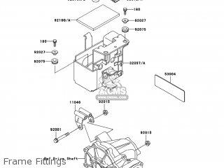 Kawasaki KLF300-C17 BAYOU300 4X4 2005 USA parts lists and