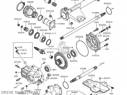 Kawasaki Klf300-c2a Bayou4x4 1990 Australia parts list