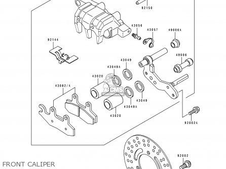 Kawasaki KLF300-C2A BAYOU4X4 1990 AUSTRALIA parts lists
