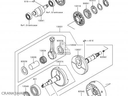 Kawasaki KLF300-C3 BAYOU3004X4 1991 USA CANADA parts lists
