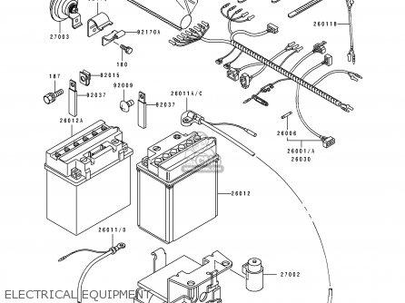 Kawasaki KLF300-C3 BAYOU4X4 1991 EUROPE UK AS parts lists