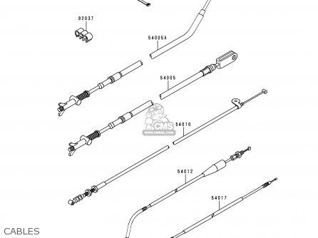 Kawasaki Klf300-c4 Bayou3004x4 1992 Usa Canada parts list