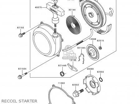 Kawasaki KLF300-C4 BAYOU3004X4 1992 USA CANADA parts lists