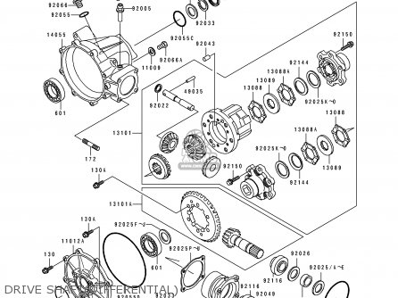 Kawasaki KLF300-C4 BAYOU4X4 1992 EUROPE UK AS parts lists