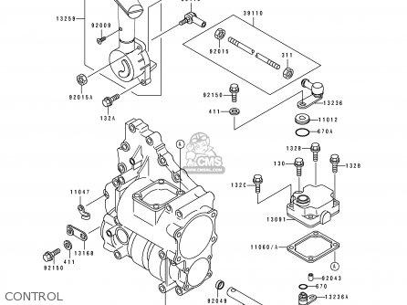 Kawasaki KLF300-C6 KLF3004X4 1994 AUSTRALIA parts lists