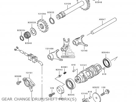 Kawasaki Klf300-c6 Klf3004x4 1994 Australia parts list