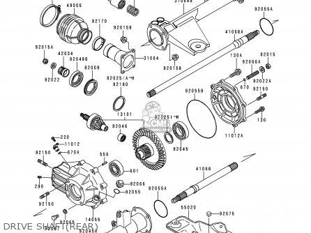 Kawasaki KLF300-C7 BAYOU3004X4 1995 USA CANADA parts lists
