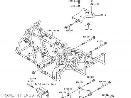 Kawasaki Klf300-c7 Bayou3004x4 1995 Usa Canada parts list