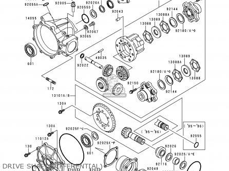 Kawasaki Klf300-c8 Bayou3004x4 1996 Usa Canada parts list