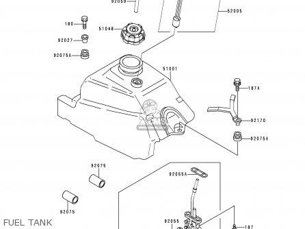 Kawasaki KLF300-C8 BAYOU3004X4 1996 USA CANADA parts lists
