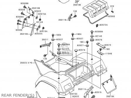 Kawasaki Klf300-c9 Bayou3004x4 1997 Usa Canada parts list