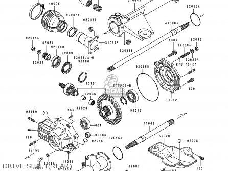 Kawasaki Klf400-b1 Bayou4004x4 1993 Europe Uk As parts