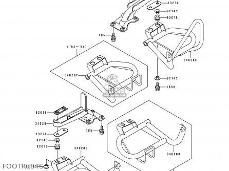 Kawasaki Klf400-b2 Bayou4004x4 1994 Australia parts list