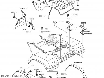 Kawasaki Bayou 400 Carburetor Diagram Kawasaki KLF 300