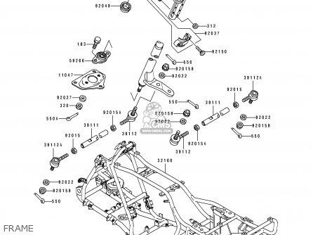 Kawasaki KLF400-B2 BAYOU4004X4 1994 USA CANADA parts lists