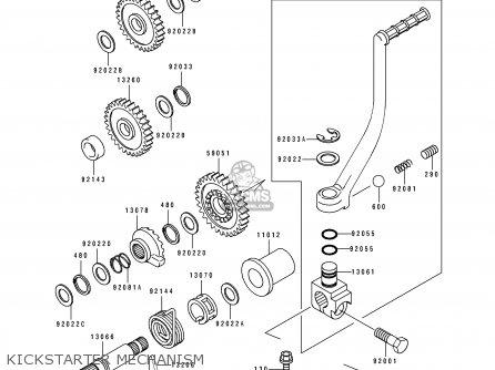 Kawasaki KLF400-B3 BAYOU4004X4 1995 EUROPE UK AS parts