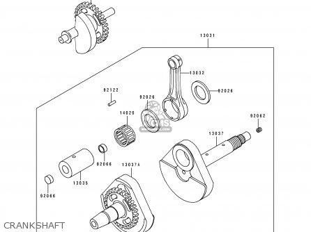 Kawasaki KLF400-B3A BAYOU4004X4 1995 EUROPE UK parts lists