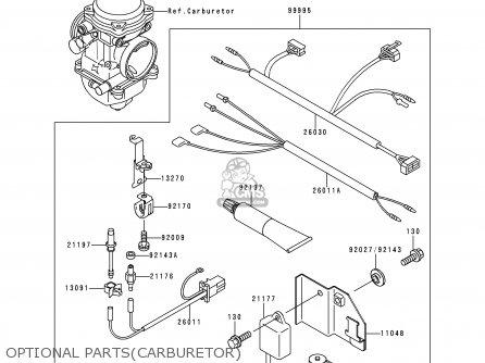 Kawasaki KLF400-B4 BAYOU4004X4 1996 USA CANADA parts lists