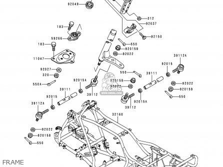 Kawasaki Klf400-b4 Klf4004x4 1996 Europe Uk As parts list