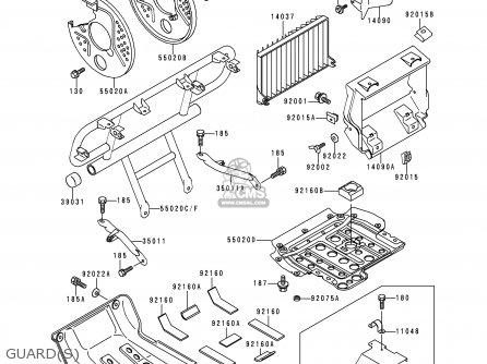 Kawasaki Klf400-b5 Bayou4004x4 1997 Usa Canada parts list
