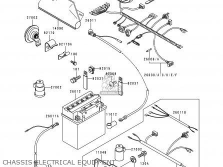 Kawasaki KLF400-B6 KLF4004X4 1998 EUROPE UK AS parts lists