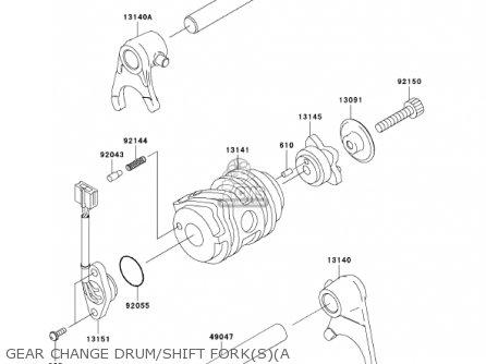 Kawasaki Klx110-a1 Klx110 2002 Usa California Canada parts