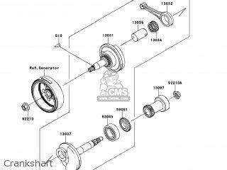 Kawasaki KLX110-DAF KLX110L 2010 USA parts lists and