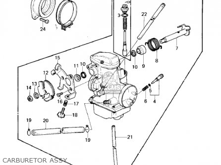 Kawasaki KLX250A1 KLX250 1979 parts lists and schematics
