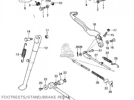 Kawasaki KLX250A1 KLX250 1979 parts lists and schematics