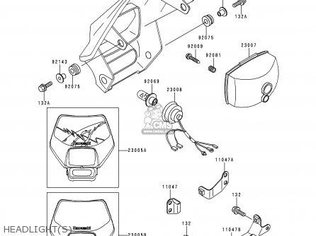 Kawasaki KLX250D1 KLX250R 1993 EUROPE UK parts lists and