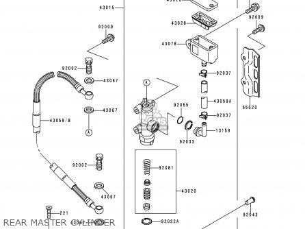 Kawasaki Klx250d1 Klx250r 1993 Europe Uk parts list