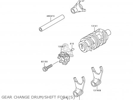 Kawasaki KLX250D2 KLX250R 1994 EUROPE UK parts lists and